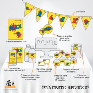 Fiesta Supeheroes imprimible