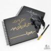 libro de firmas negro