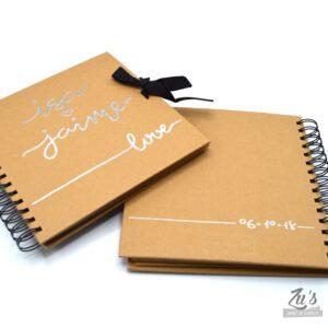 Libro de firmas para boda color kraft