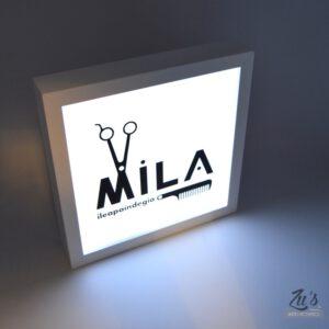 Cuadro de luz con tu logo