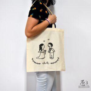 Bolsa de tela para bodas