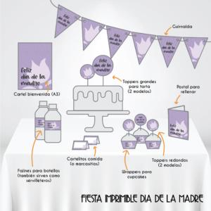 Fiesta Dia de la Madre imprimible gratuito