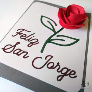 Imprimible gratuito «Rosa de San Jorge / Sant Jordi»