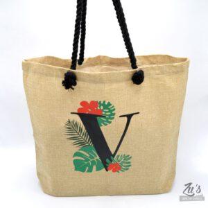 Bolsa personalizada monograma tropical